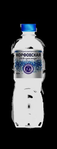 Корфовская 0,5 л. среднегазированная